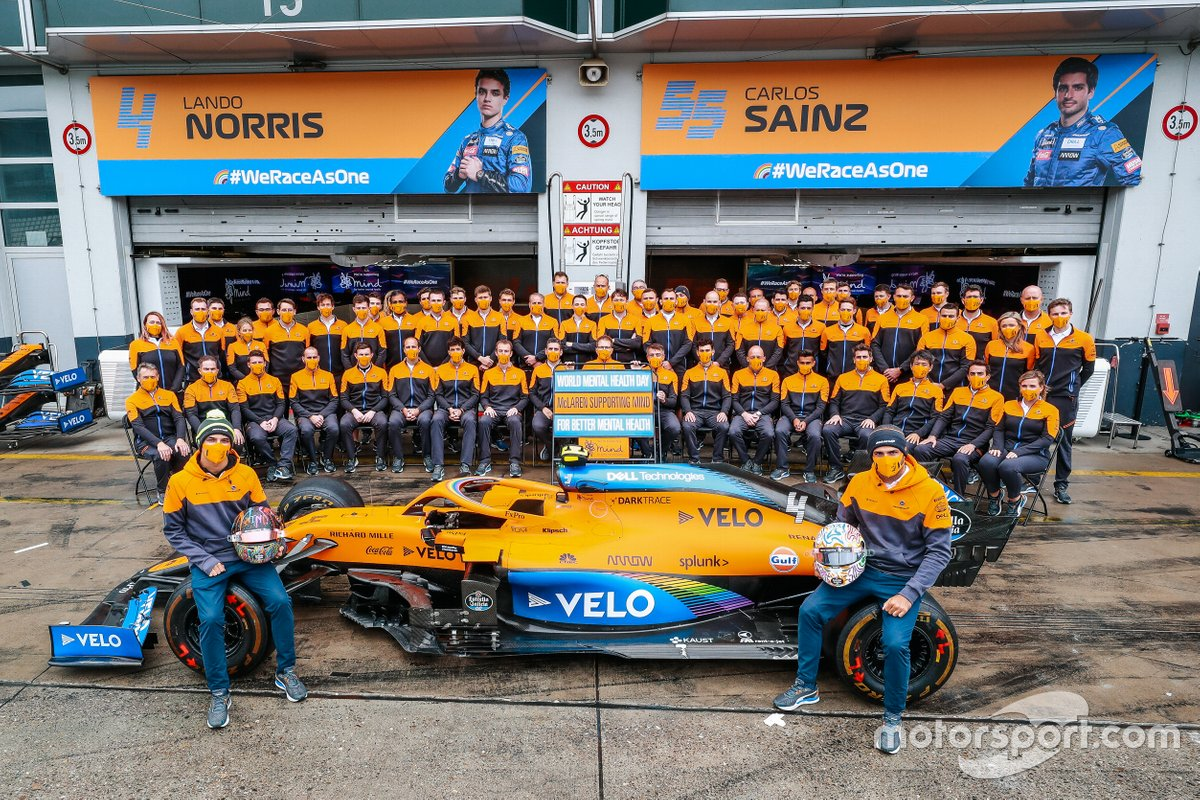 McLaren Racing shows support of World Mental Health Day with Mind