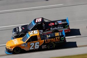 Tyler Ankrum, GMS Racing, Chevrolet Silverado Liuna!, Christian Eckes, Kyle Busch Motorsports, Toyota Tundra Safelite AutoGlass