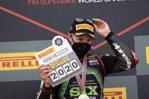 Jonathan Rea, Kawasaki Racing Team riceve il trofeo per il giro veloce
