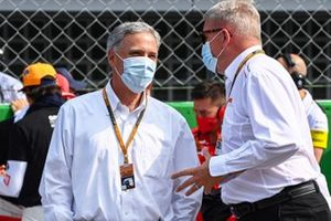 Chase Carey, Chairman, Formula 1, on the grid