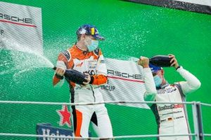 Podium: Race winner Larry ten Voorde, Team GP Elite, Leon Köhler, Lechner Racing Middle East