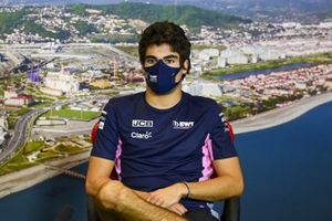 Lance Stroll, Racing Point in the press conference