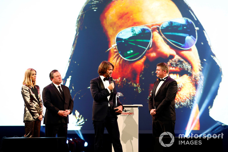 Stephane Ratel receives a Gregor Grant Award on stage