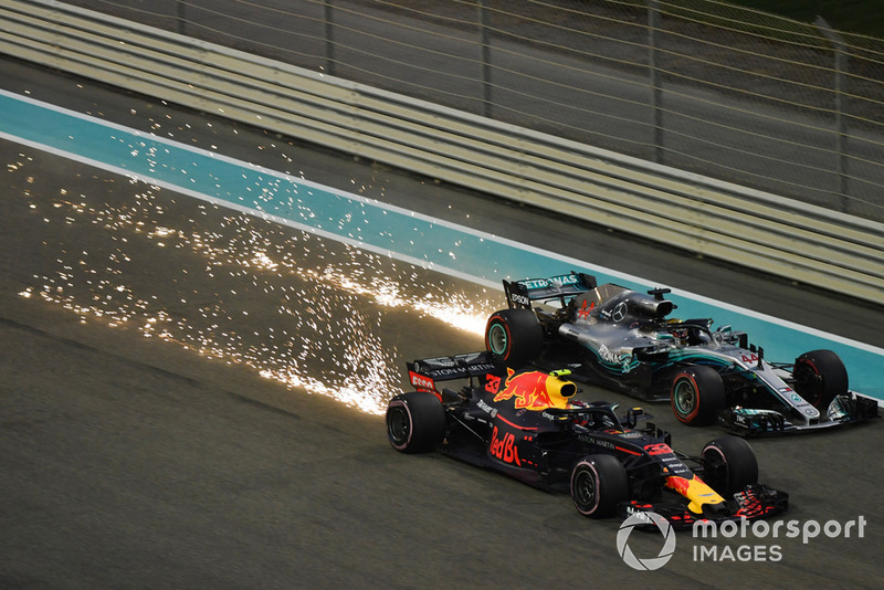 Max Verstappen, Red Bull Racing RB14, Lewis Hamilton, Mercedes AMG F1