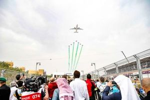 The Saudia Airlines fly-over from the grid