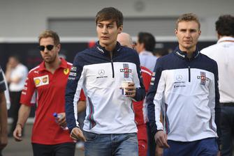 George Russell, Williams Racing and Sergey Sirotkin, Williams Racing