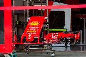 Voorvleugel Ferrari SF71H in nieuwe livery