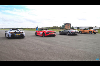 BMW i8 Race McLaren 570S, Mercedes-AMG GT C, Audi R8