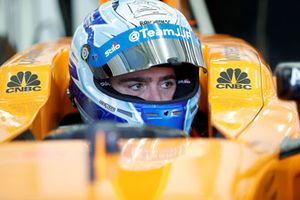 Jimmie Johnson in the McLaren