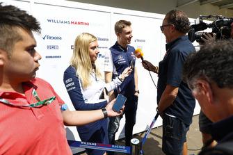 Sergey Sirotkin, Williams Racing, is filmed being interviewed