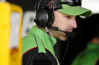 Kyle Busch, Joe Gibbs Racing, Toyota Camry Interstate Batteries crew chief Adam Stevens