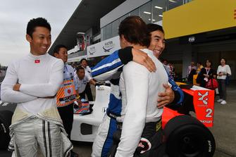 Kazuki Nakajima, Takuma Sato and Felipe Massa at Legends F1 30th Anniversary Lap Demonstration