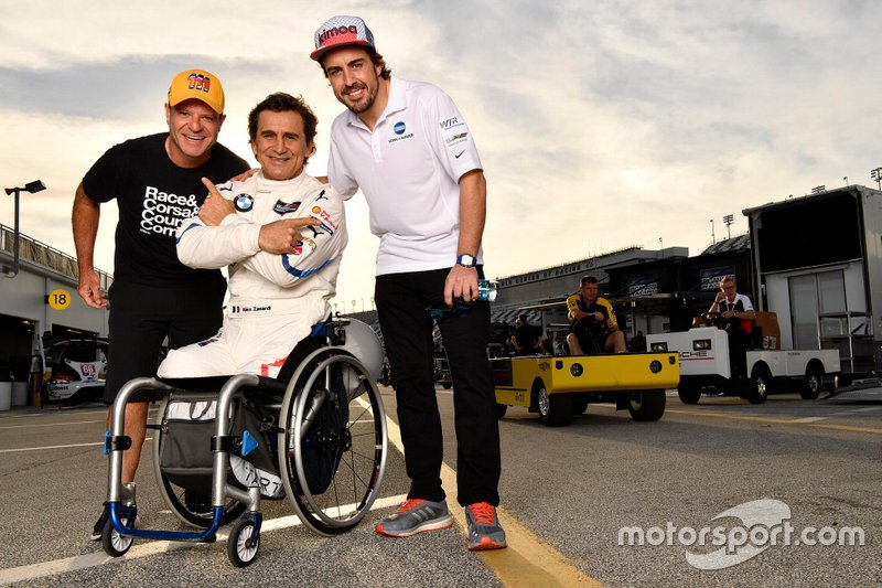 Rubens Barrichello, JDC/Miller Motorsports, Alex Zanardi, BMW Team RLL, Fernando Alonso, Wayne Taylor Racing