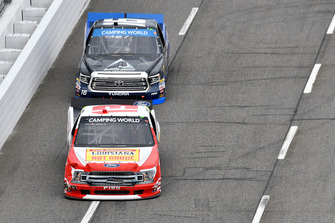 Myatt Snider, ThorSport Racing, Ford F-150, Brett Moffitt, Hattori Racing Enterprises, Toyota Tundra AW N.C. / AISIN GROUP