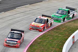 Noah Gragson, Kyle Busch Motorsports, Toyota Tundra Safelite AutoGlass, Myatt Snider, ThorSport Racing, Ford F-150, Ben Rhodes, ThorSport Racing, Ford F-150
