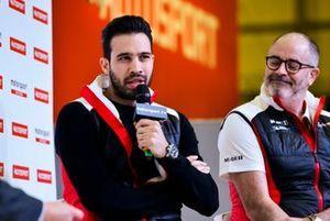 Dino Zamparelli and James MacNaughton talk Porsche on the stage