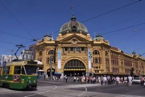 Flinders Street Station in the city of Melbourne