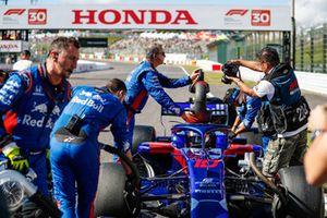 Pierre Gasly, Scuderia Toro Rosso STR13, sur la grille