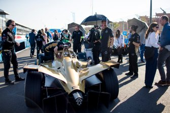 The car of Andre Lotterer, DS TECHEETAH, DS E-Tense FE19, on the grid