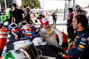 Loic Duval and Pierre Gasly talk at the ROC Skills Challenge