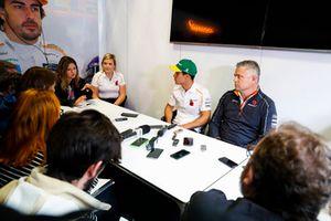 Gil de Ferran, Sporting Director, McLaren, announces new test and development driver Sergio Sette Camara to the media