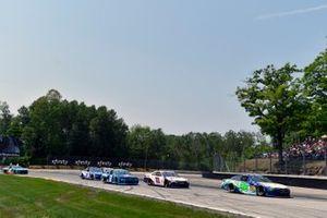 Ty Dillon, Gaunt Brothers Racing Toyota Camry Lure Lock / Bass Pro Shops and Denny Hamlin, Joe Gibbs Racing, Toyota Camry FedEx Freight