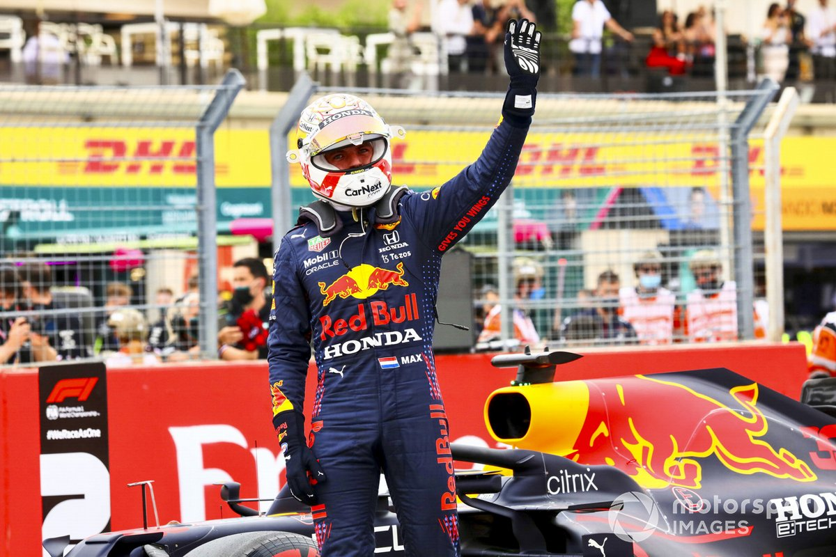 Ganador de la pole Max Verstappen, Red Bull Racing