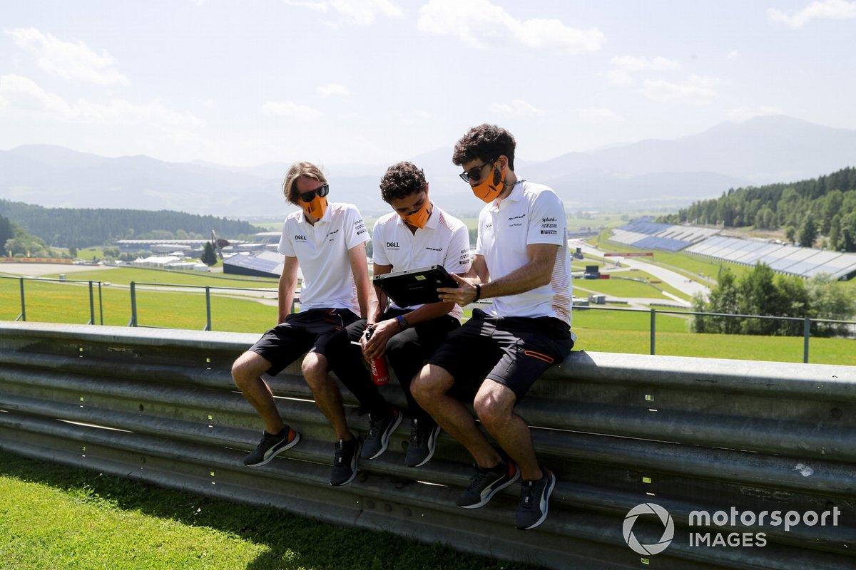 Lando Norris, McLaren, recorre la pista