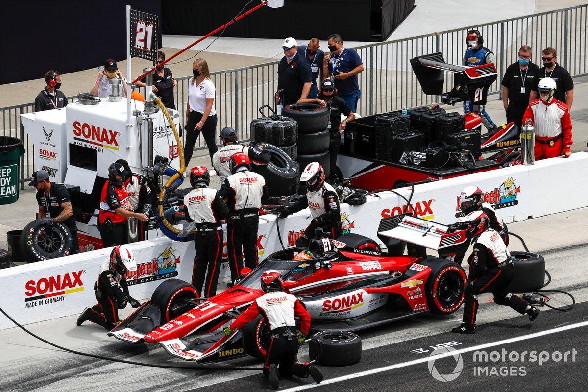 Rinus VeeKay, Ed Carpenter Racing Chevrolet, Pit Stop