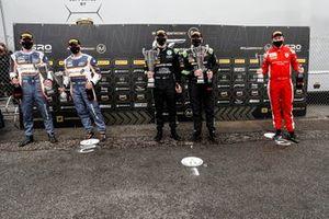 #5 Stewart Proctor / Lewis Proctor - Balfe Motorsport McLaren 720S GT3, #8 Richard Neary / Sam Neary - Team Abba Racing Mercedes-AMG GT3 Evo and #24 Lucky Khera / Ross Wylie - Simon Green Motorsport Lamborghini Huracan GT3 Evo