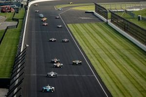 Alex Palou, Chip Ganassi Racing Honda, Josef Newgarden, Team Penske Chevrolet, Juan Pablo Montoya, Arrow McLaren SP Chevrolet