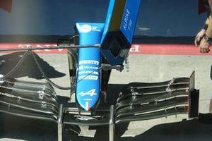 Aileron avant de la voiture de Fernando Alonso, Alpine A521
