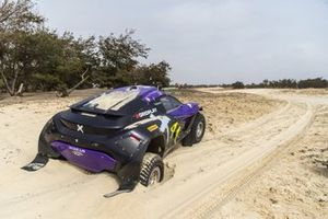 The damaged car of Cristina Gutierrez, Sebastien Loeb, X44 in the final