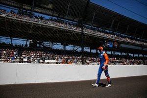Scott Dixon, Chip Ganassi Racing Honda, sur la grille de départ