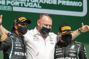 Lewis Hamilton, Mercedes, en Valtteri Bottas, Mercedes