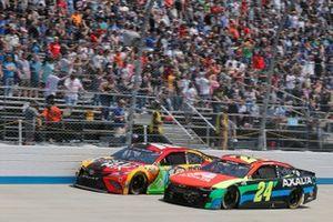 William Byron, Hendrick Motorsports, Chevrolet Camaro Axalta, Kyle Busch, Joe Gibbs Racing, Toyota Camry M&M's Mix