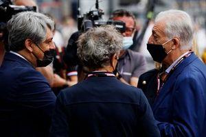 Alaiin Prost, Advisor, Alpine F1, with dignitaries