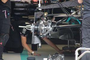 Mercedes W12 dettaglio del freno anteriore