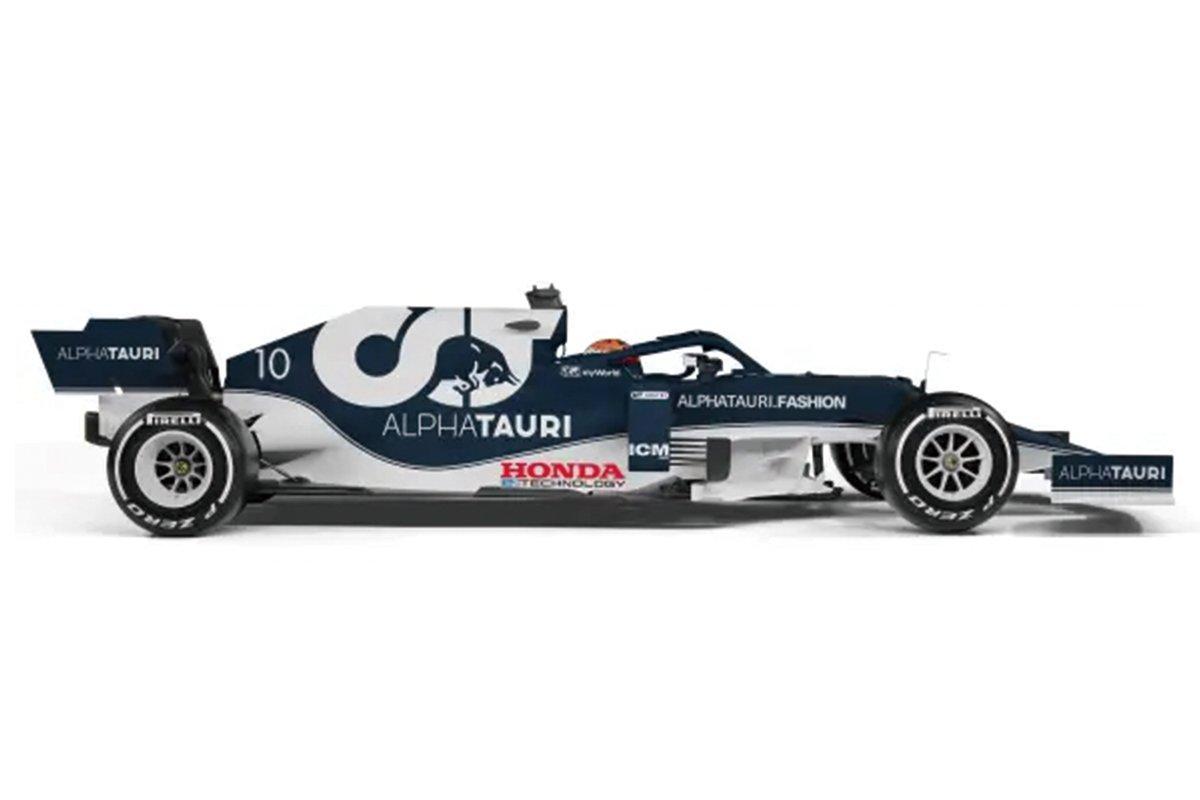 『Honda e:TECHNOLOGY』のロゴマークをまとうAlphaTauri AT02