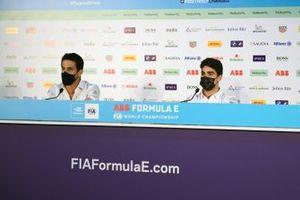 Lucas Di Grassi, Audi Sport ABT Schaeffler, Sergio Sette Camara, Dragon Penske Autosport, en conférence de presse