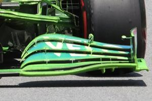McLaren MCL35M new front wing detail