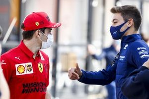 Charles Leclerc, Ferrari y George Russell, Williams