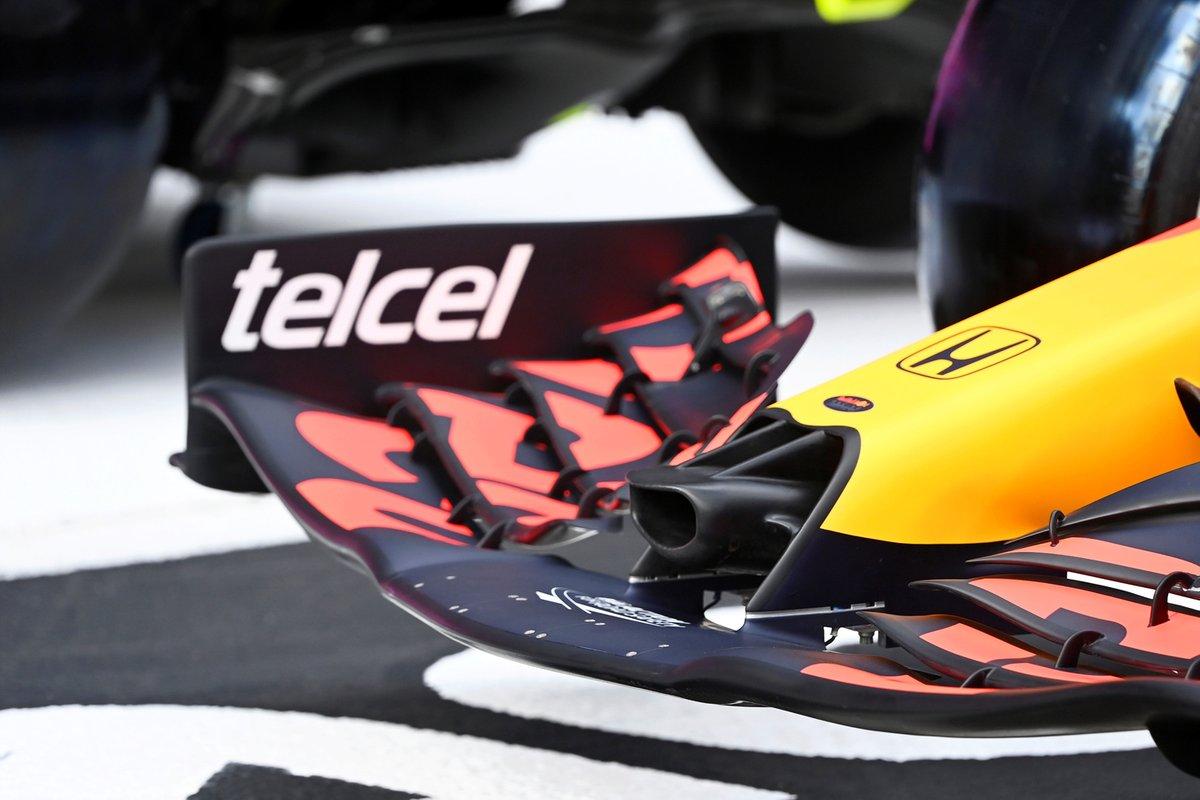 Detalle del frente del Red Bull Racing RB16B