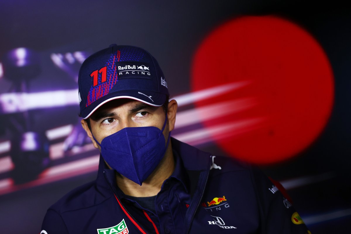 Sergio Pérez, Red Bull Racing during the press conference