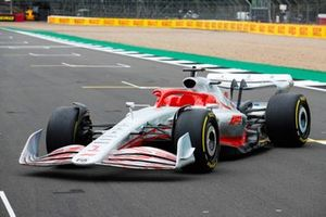 The 2022 Formula 1 car launch event on the Silverstone grid