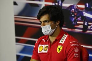 Carlos Sainz Jr., Ferrari, in the press conference