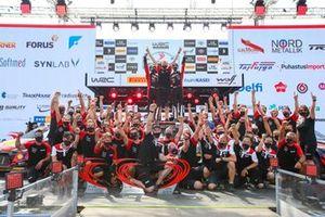 Kalle Rovanperä, Jonne Halttunen, Toyota Gazoo Racing WRT Toyota Yaris WRC with the team