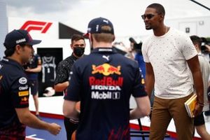 Sergio Perez, Red Bull Racing and Max Verstappen, Red Bull Racing with Chris Bosh