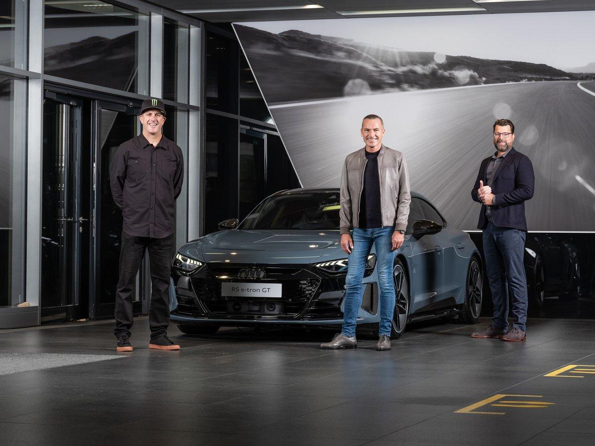 Ken Block, Henrik Wenders, Oliver Hoffmann, Audi RS e-tron GT