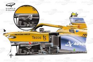 McLaren MCL35M Bargeboards